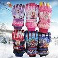 Nova Marca de Inverno 3-12Yrs Criança À Prova D' Água Ciclismo À Prova de Vento de Esqui Luvas de Snowboard Crianças Dos Desenhos Animados Da Menina do Menino Respirável Dedo de Luva