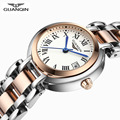 Relojes Mujer 2016 Смотреть Женщин Бренд GUANQIN Моды Роскошь Кварцевые Часы Из Нержавеющей Стали Водонепроницаемый Старинные Часы
