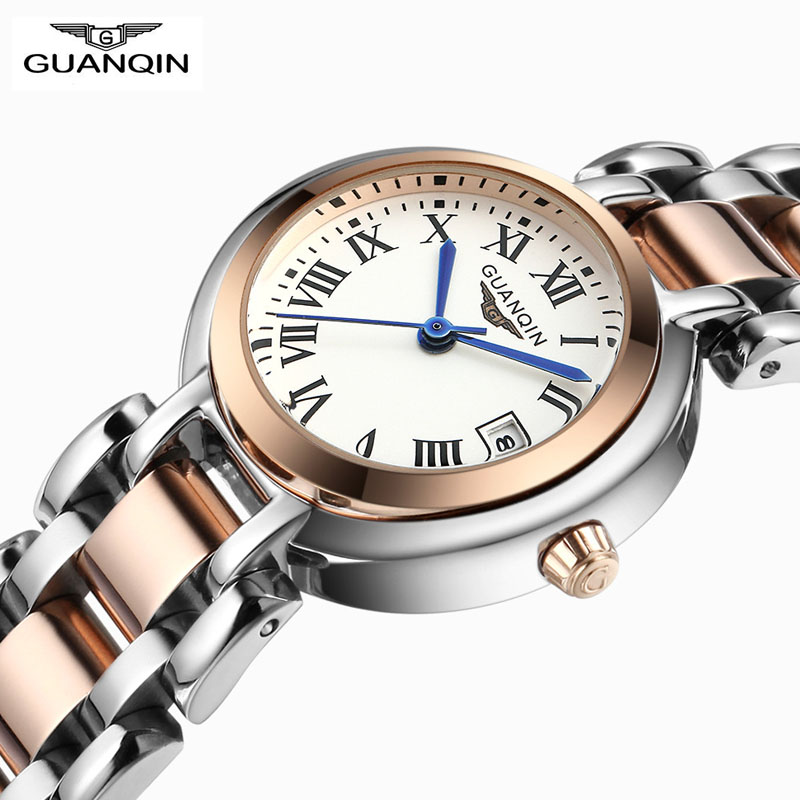 ФОТО Relojes Mujer 2016 Watch Women Brand GUANQIN Fashion Luxury Quartz Watches Stainless Steel Waterproof Vintage Watches