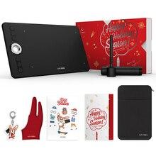 Графический планшет для рисования новагодняя версия Подарочная упаковка XP Pen Deco 02 графический планшет с безбатарейным пассивным стилусом и клавишами быстрого доступа