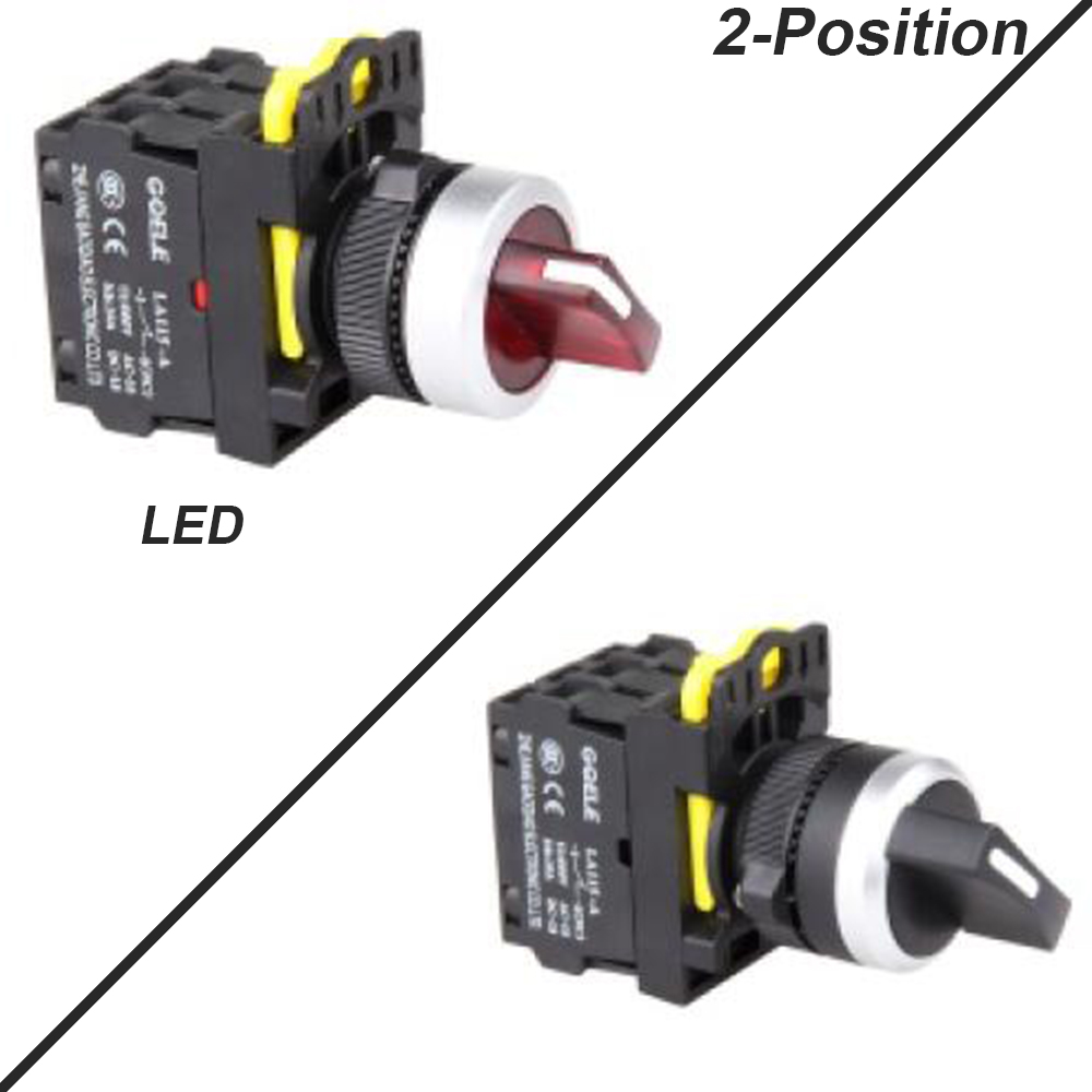 5 PCS 2 Position Push button switch Selector switch short handle LED  Latching OR Momentary 1NO 1NC 2NO 2NC Waterproof IP65 3 terminal short push plunger momentary micro switch 15a 250vac 1no 1nc