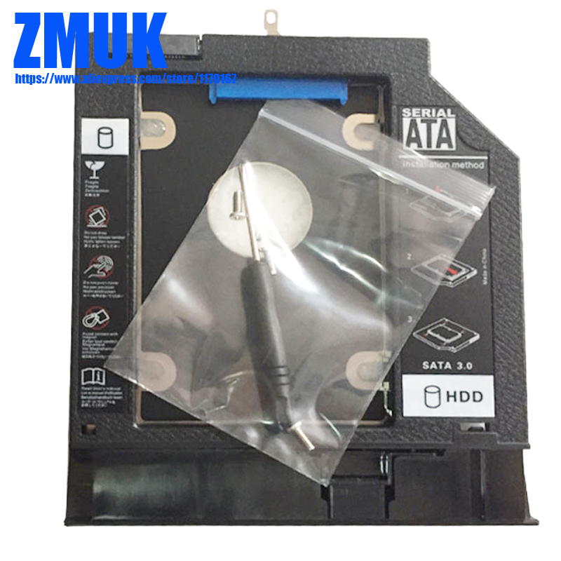 Brand New SSD HDD Adapter Caddy W/ Faceplate For Lenovo B50 B51 B50-40 B50-45 B50-70 B50-80 B51-35 B51-40 B51-45 Series