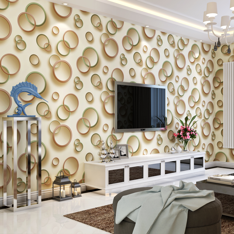 Popular circles wallpaper buy cheap circles wallpaper lots for 3d wall designs bedroom