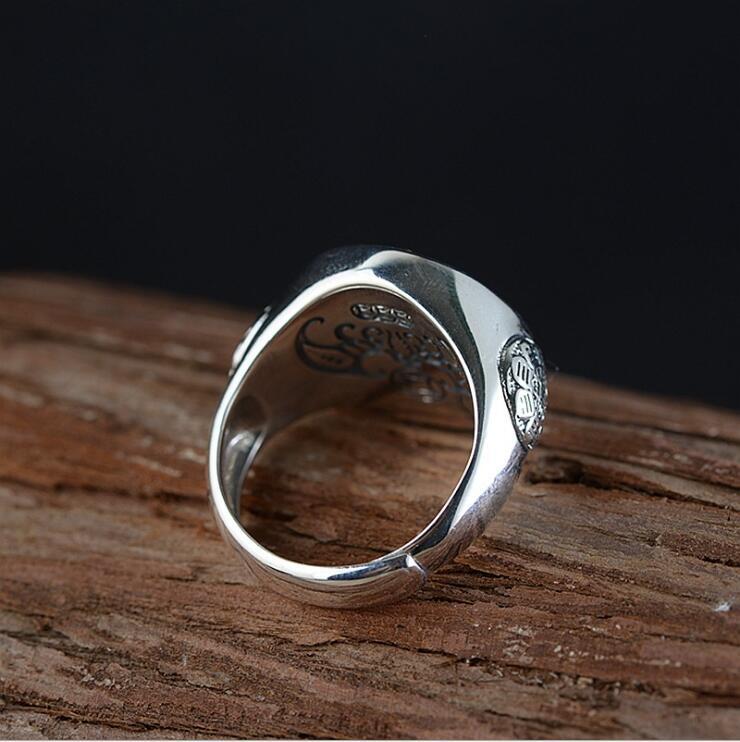 Lengkea bijoux hommes anneaux Vintage 925 bague en argent Sterling anneau d'ouverture rotatif femmes anneau bijoux hommes accessoires amoureux cadeaux - 2