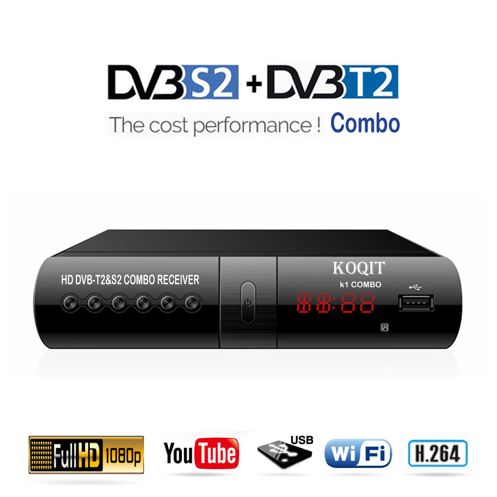 Digital DVB T2 S2 Combo Free Internet IPTV Satellite Receiver Terrestrial Digital TV Box DVB-T2 Playback Receptor Tuner Youtube