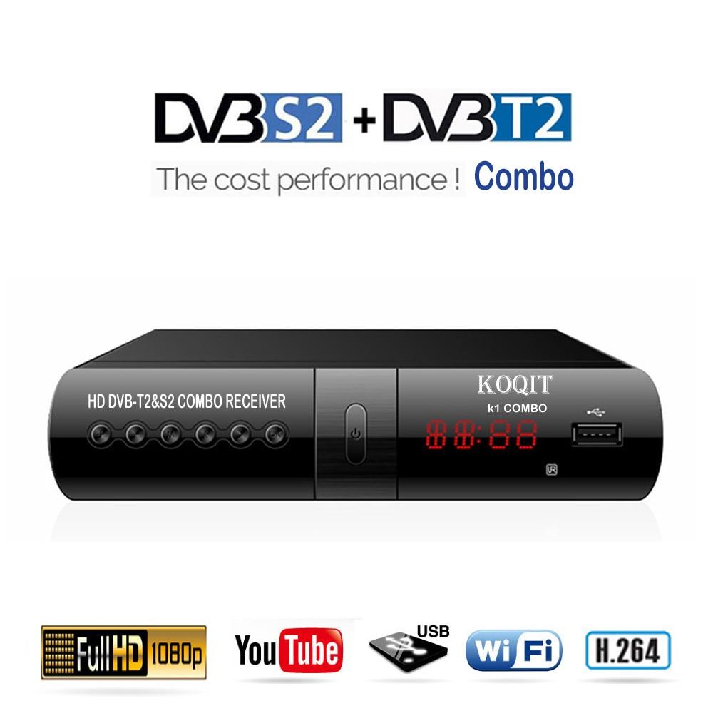 Récepteur Satellite numérique DVB T2 S2 combiné Internet gratuit IPTV récepteur de télévision numérique terrestre récepteur de lecture DVB-T2 récepteur Youtube