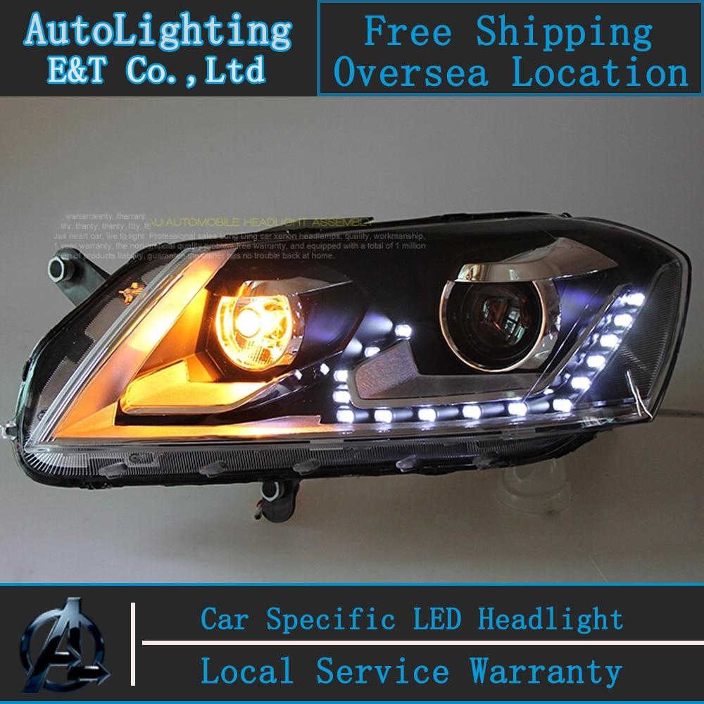 Aliexpress com buy car styling head lamp for vw passat b7 2012 2014 led headlights volks wagen passat b7 headlight drl h7 hid bi xenon lens from reliable