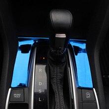 Автомобильные аксессуары панельная Накладка для коробки передач наклейка Накладка для Honda CIVIC интерьер из нержавеющей стали автомобиль-Стайлинг
