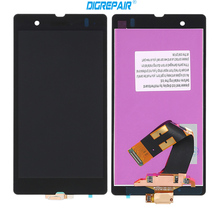 "5"" Black For Sony Xperia Z L36h L36i C6606 C6603 C6602 C6601 LCD Display touch screen digitizer Full Assembly replacement Parts"