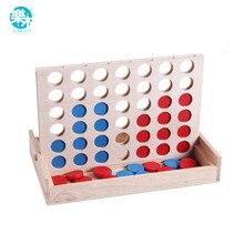 Подключите синий красный четыре в ряд 4 в линейной доске Смешные Семейные вечеринки классические игры бинго деревянные развлечения путешествия взрослые игрушки