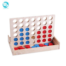 Connect Blue Red Four In A Row 4 In A Line Board Funny Family Parties Classic Bingo Games Wood Entertainment Travel Games(China)
