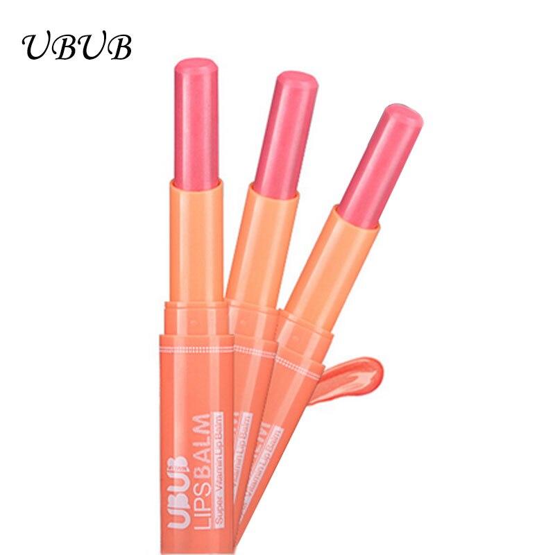 Brand UBUB cute lipbalm lovely lip smacker 4 fruit flavors baby lips balm font b lipstick
