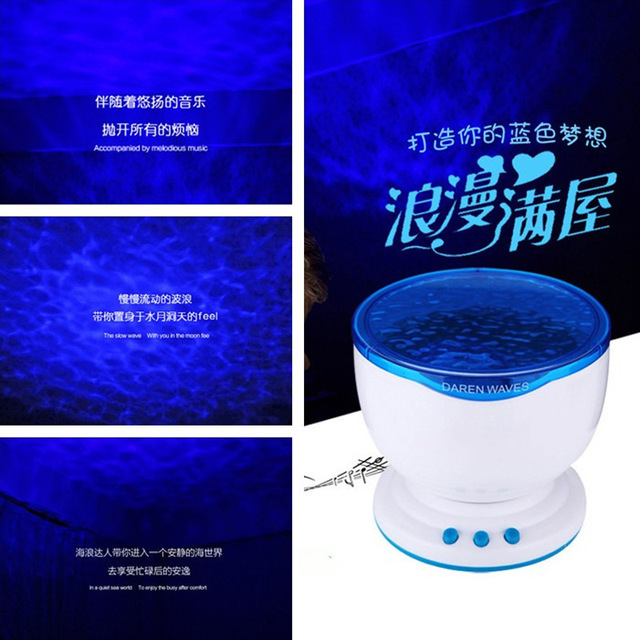 Projektor Sternenhimmel Led Nachtlampe Romantic Ocean Wave Bluetooth
