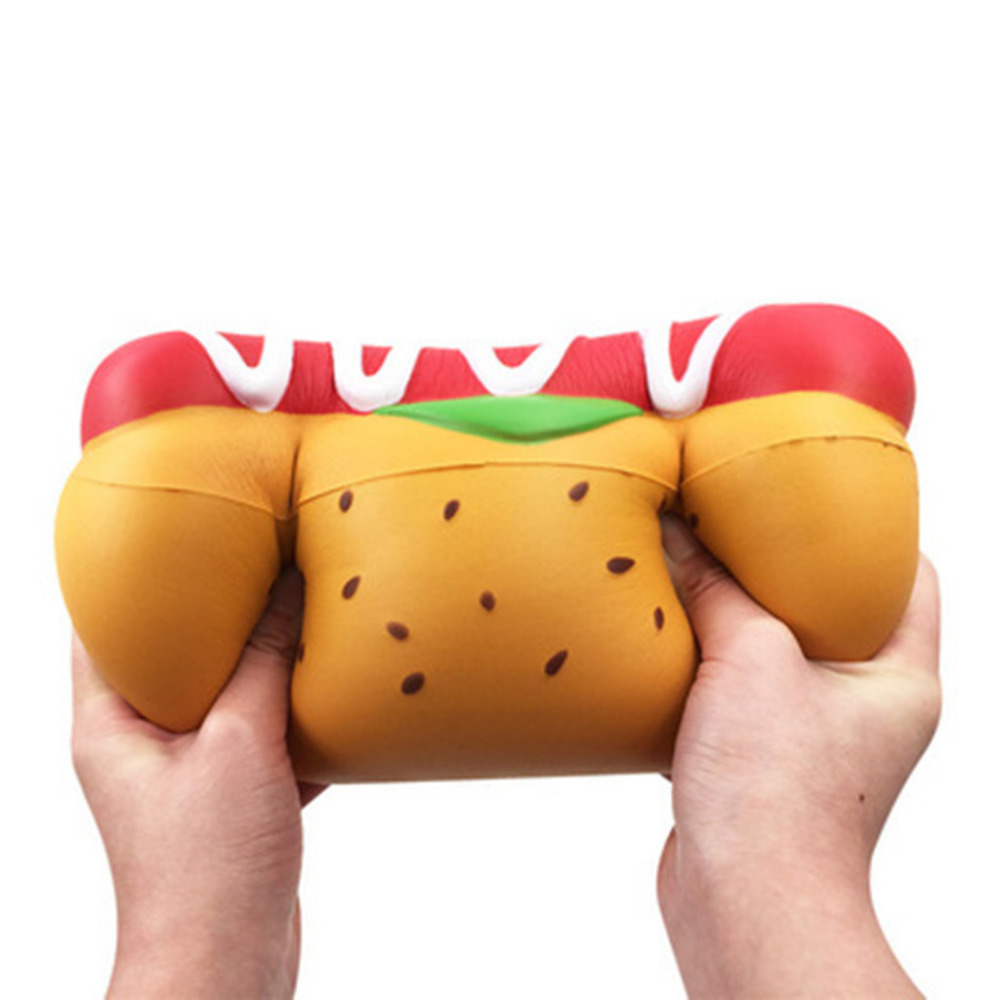 1pc Jumbo Giant Hot Dog Toys  Slow Rising  Scented Stress Relief Toys Elastic Environmentally PU Hot Dog Decompression Toys