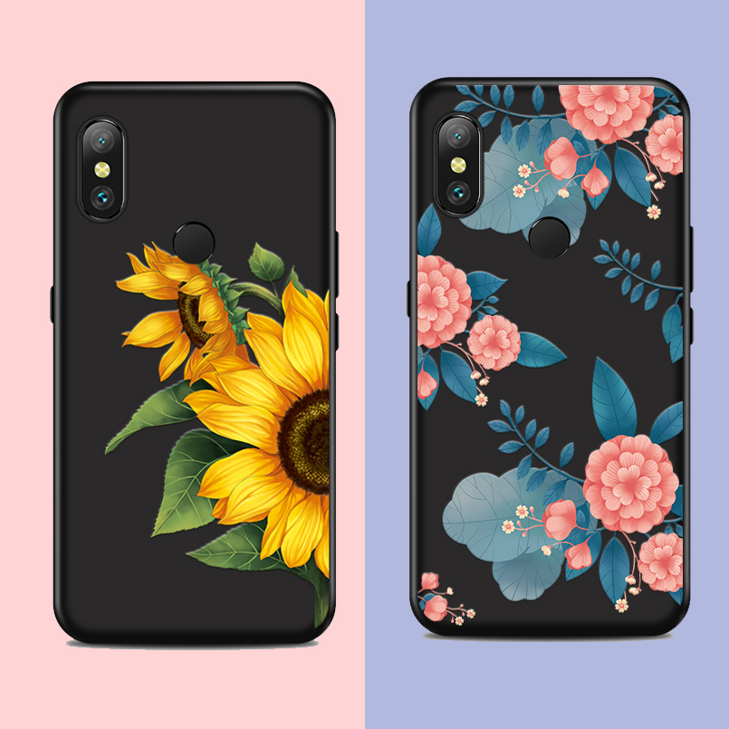 Flower Case For Xiaomi Redmi Note 6 Pro Beautiful 3D Relief Cover 5 7 Shockproof Phone