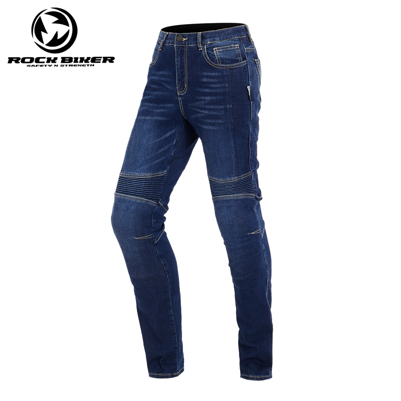 цена на ROCK BIKER Men Cotton Retro Denim jeans Motorcycle Moto Racing pants pantaloni motocross Motorcycle Enduro Riding Trousers
