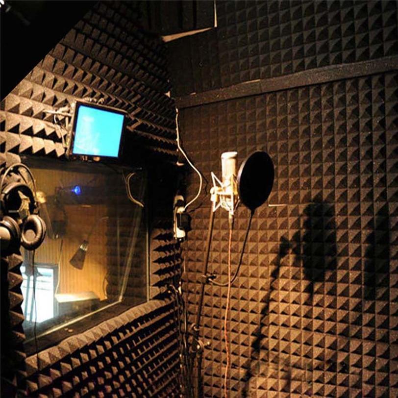 Theatre Acoustic Walls Diy Foam: 250x250x20mm Acoustic Foam Panel Sound Stop Absorption