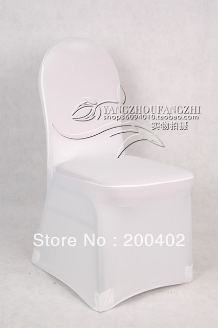 free shipping  BIG DISCOUNT WHITE  spandex chair cover for weddings/banquet chair cover