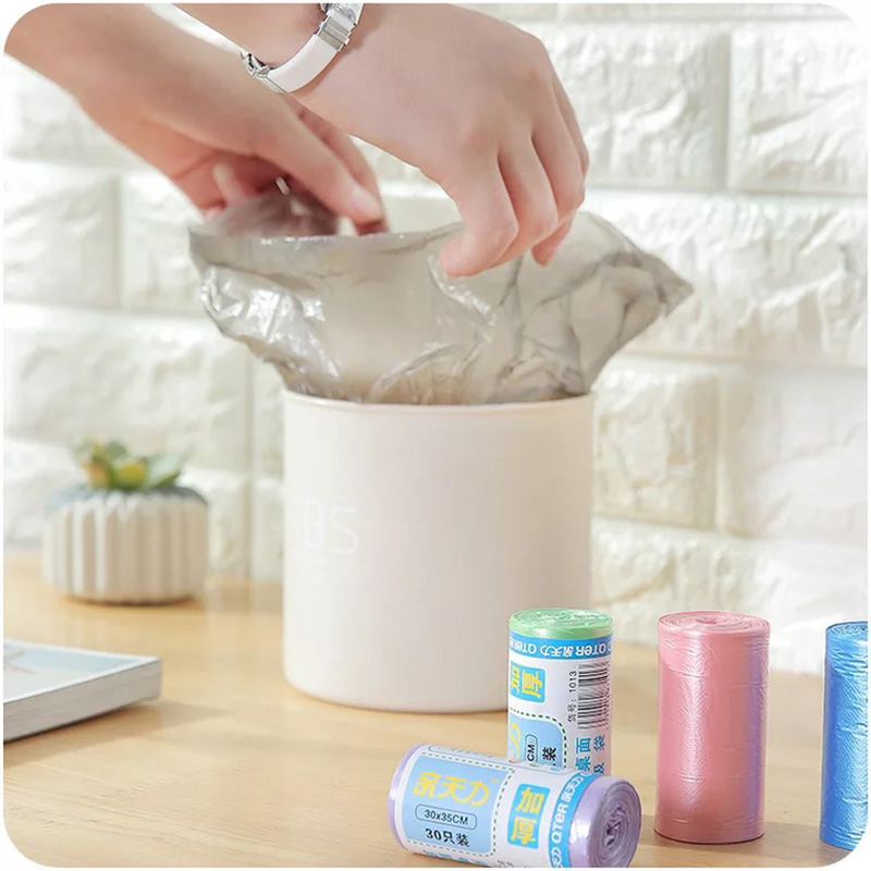 30pcs/roll Garbage Bags Thicken Desktop Small  Household Car Mini Disposable Plastic Rubbish Bags Trash Bag