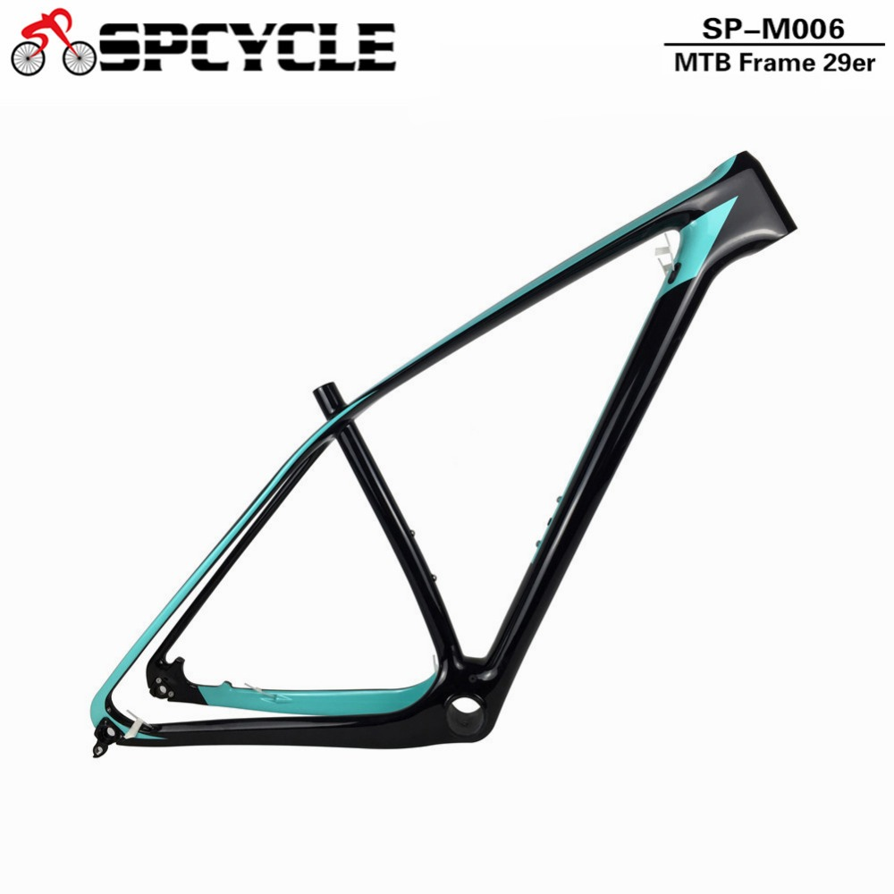 Spcycle 29er 27.5er Carbon MTB Frame 650B T1000 Full Carbon Mountain Bike Frame 142*12 Thru Axle or 135*9mm QR Bicycle Frameset 2017 flat mount disc carbon road frames carbon frameset bb86 bsa frame thru axle front and rear dual purpose carbon frame