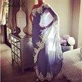 Mulheres Indianas Saree Dubai Vestidos de Noite Longo de Um Ombro Vestidos de Noite Com Apliques Brancos Abaya Robe De Soirée Abendkleider
