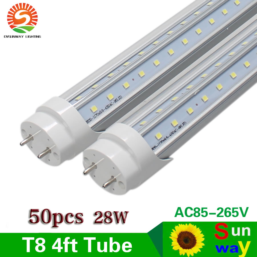 4ft Led Tube Light T8 G13 Base 270 Degree V Shaped 1200mm