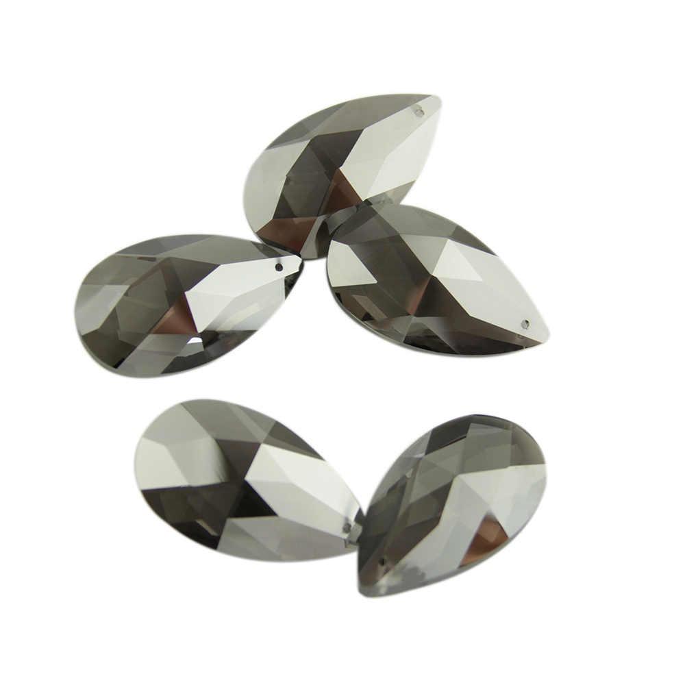 10 unids/bolsa 50mm lágrima candelabro prismas candelabro colgantes de cristal cuentas colgantes de cristal