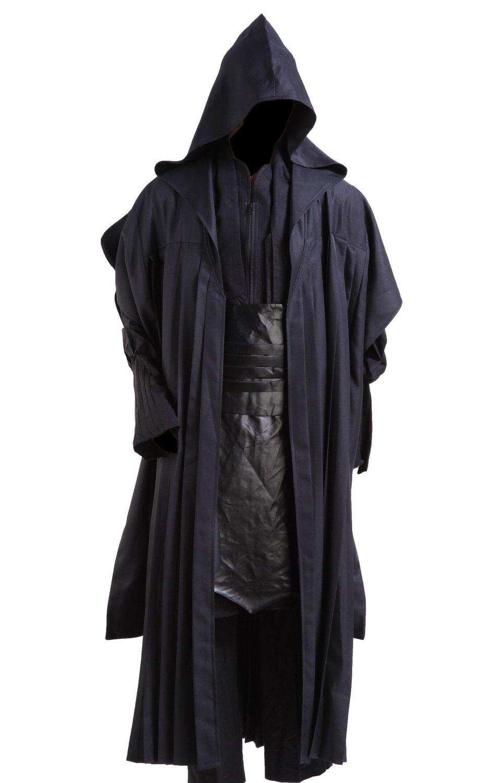 New Star Cosplay Wars Darth Maul Black Halloween Cosplay Costume Uniform Tunic Belt Cloak Robe For Men Movie Custom Made