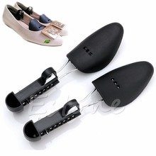 1 Pair Plastic Shoe Tree Shaper Shapes Stretcher Adjustable for Women Men New