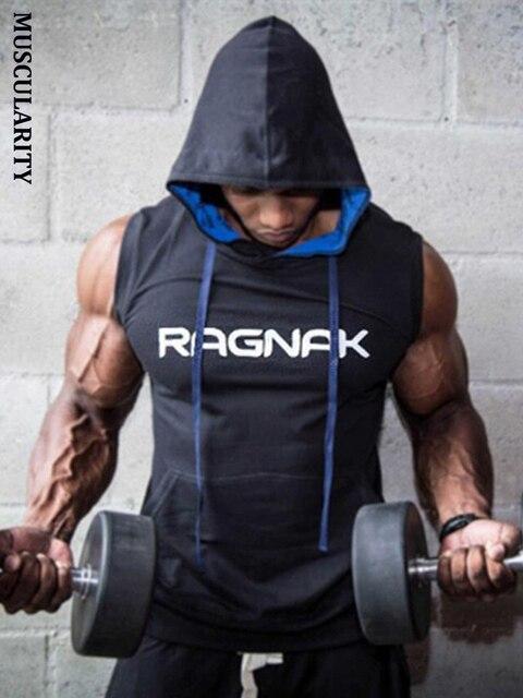 4ee0ea73 MUSCULARITY Men cotton hoodie sweatshirts fitness clothing bodybuilding  tank top men Sleeveless Tees Shirt Casual golds