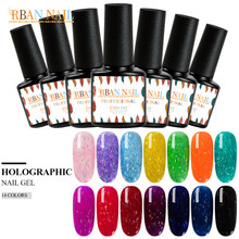 RBAN NAIL 7ML Laser Glitter Nail Gel Polish Holo Filament Nail Art Manicure Shimmer Semi Permanent Soak off UV LED Gel Lacquer(China)