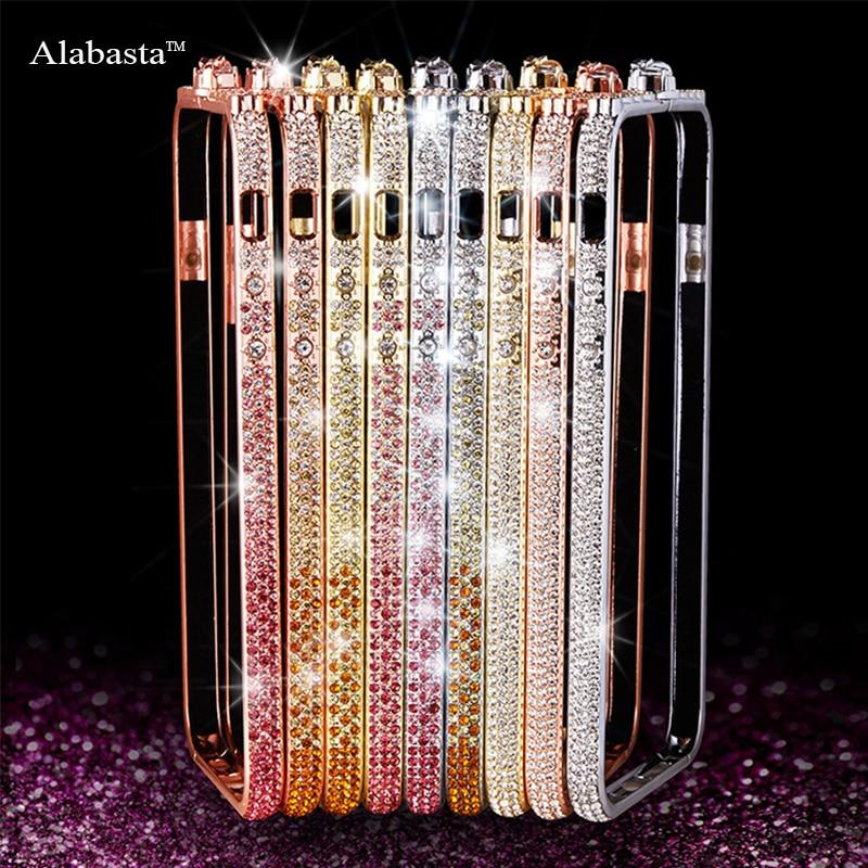 For iphone 7 Bling Diamond Luxury Aluminum Metal Bumper