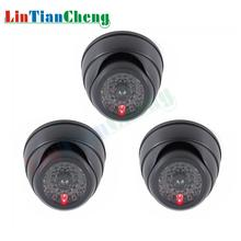 LINTIANCHENG 3pcs Mini Fake Camera surveillance Outdoor With Flashing LED Light CCTV Home Security Dummy Simulation
