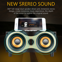 TOPROAD Portable Wooden Wireless Speaker Subwoofer Stero Bluetooth Speakers Radio FM Desktop caixa de som for iPhone Android