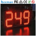 big outdoor waterproof red led counter clock, muti-functional digital led display 7 segment led display digital timer