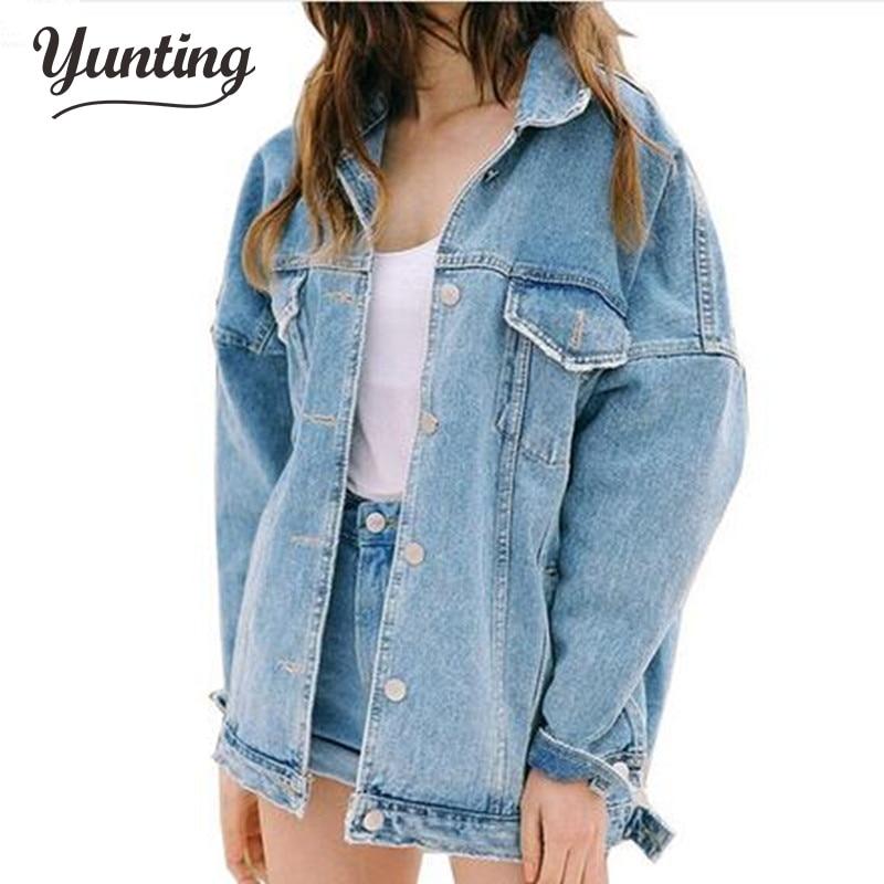 Dámské Džínové bundy a kabáty Streetwear styl Podzim a zima Loose Lady Top Nadměrná Denim bunda Velkoobchod