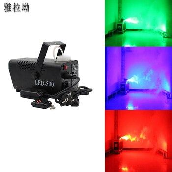 цена на colorful fog machine 500W remote control  disco wedding fogger machine stage projector for home DJ smoke machine