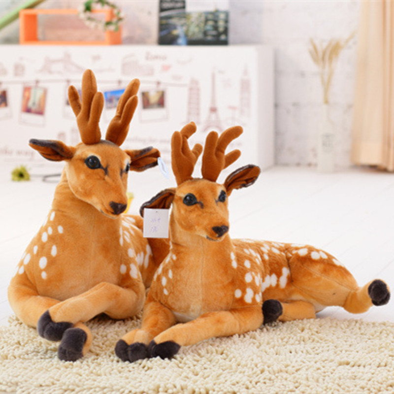 1pc 30-50cm Kawaii Simulation Deer Plush Toy Soft Staffed Sika Deer Doll Home Decor high quality KidBabyChildrens Birthday Gift