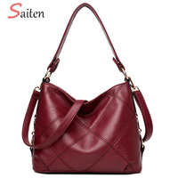 High Quality PU Leather Women Shoulder Bags Fashion Patchwork Women Hobos Handbags Famous Brands Solid Ladies