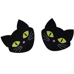 Image 2 - GEOCOCCYXFree verschiffen Sexy erfahrung 50 pairs (100Pcs) Druck Cartoon schöne Katze avatar Pasties Brustwarze Bedeckt