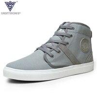 WEST SCARP Men Sneakers Spring Autumn Men S Canvas Shoes Hombre Fashion High Top Casual Shoes