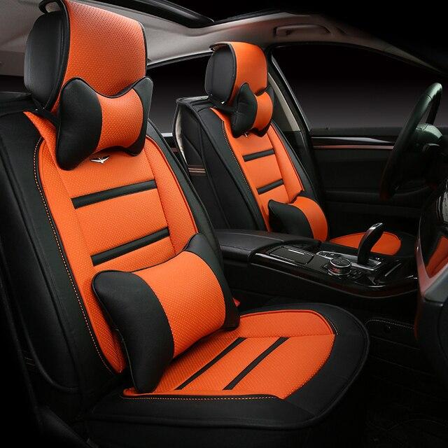 3D Estilo Cubierta de Asiento de Coche Para Peugeot 206 207 2008 301 307 308sw 3008 408 4008 508 rcz, Alta-fibra, Cuero de Coche Cubre