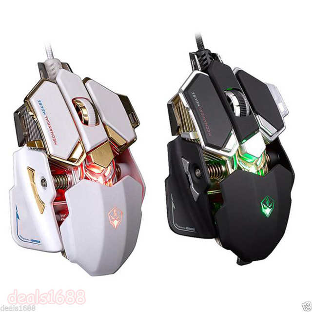 US $18 99 47% OFF|Programmable Gaming Mouse RGB 10 Buttons Ergonomic PRO  Magic LED Light USB Wired Gamer Optical Mice 4800 DPI for cs go Comouter-in