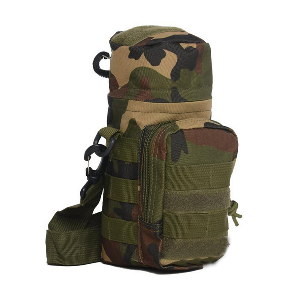 Outdoor Tactical Military Molle System Water Bottle Bag Kettle Pouch Holder