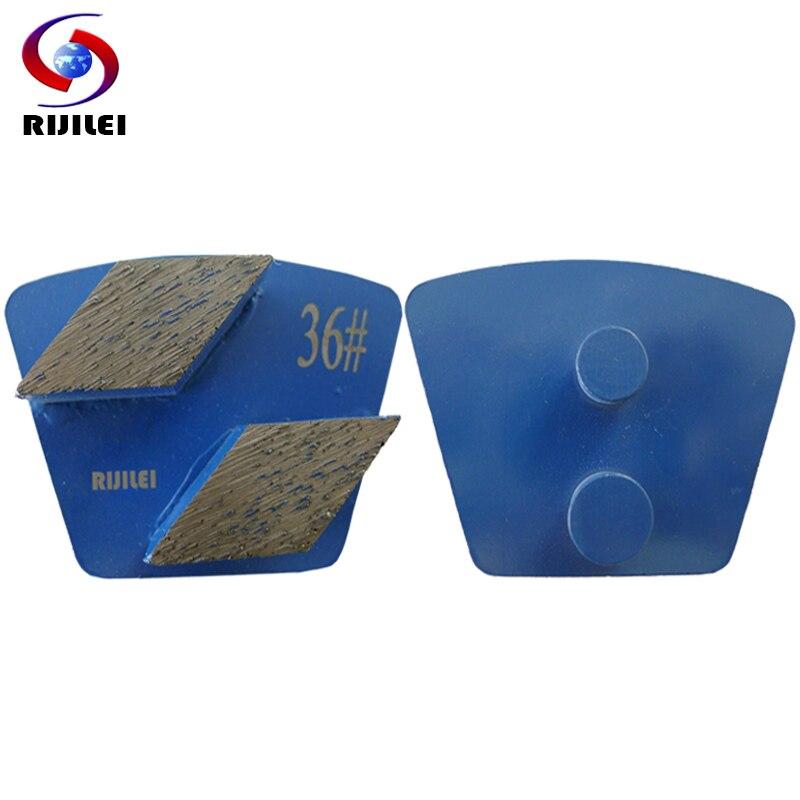 RIJILEI 12 pçs/lote Redi-bloqueio de Metal Diamante disco de Moagem Pad placa disco de Moagem para piso de concreto moedor magnético Forte p50B