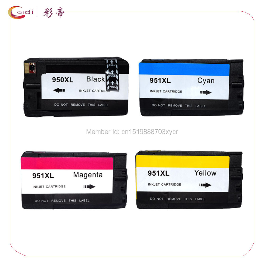 4Pack Compatible For hp 950 951 Ink Cartridge HP 8100 8600 Plus 8610 8620 8630 8625 8700 Pro 251dw 276dw printer