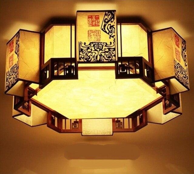 € 348.47 |Le style chinois moderne salon classique créatif en forme de  plafonniers salle à manger chambre thé magasin plafonnier ZS59 dans Lampes  ...