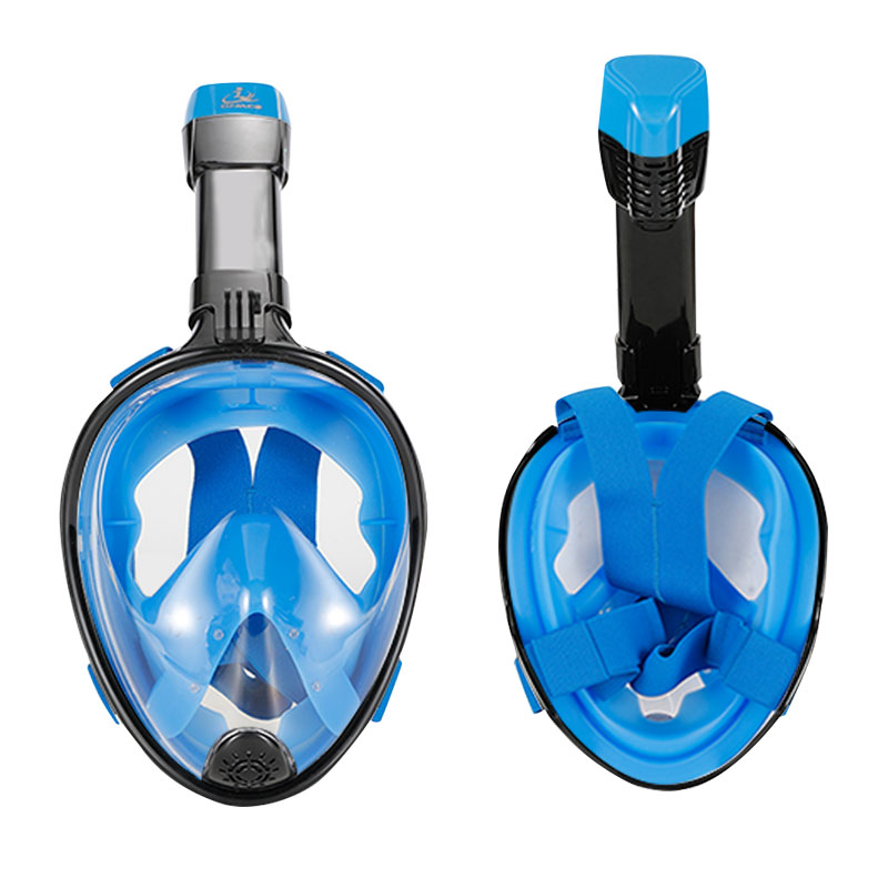 SMACO Unisex Adult/Child Diving Mask Scuba Mask Underwater Anti Fog Full Face Snorkeling Mask Swimming Snorkel Diving Equipment snorkeling equipment full face diving mask full dry snorkel adjustable strap flippers msf2153227