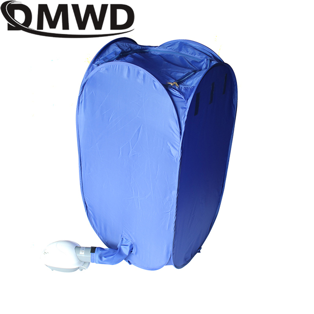DMWD Mini Portable Garment Dryer Electric Laundry Air Warmer Wardrobe Dehydrator Foldable Baby Clothes Quick Drying Machine Rack