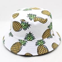 SUOGRY Pineapple Printed Bucket Hats For Women Girls Men 2018 New Fashion Lovely Summer Casual Cotton Fitted